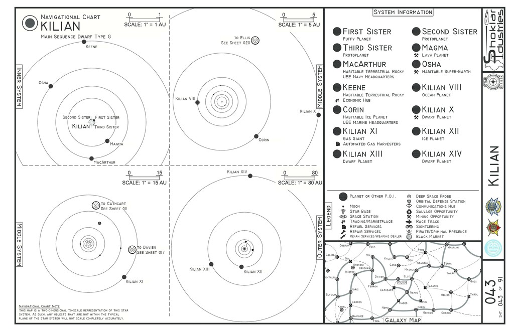 Citizen Spotlight 11x17 Physical Star Maps All Systems Updated