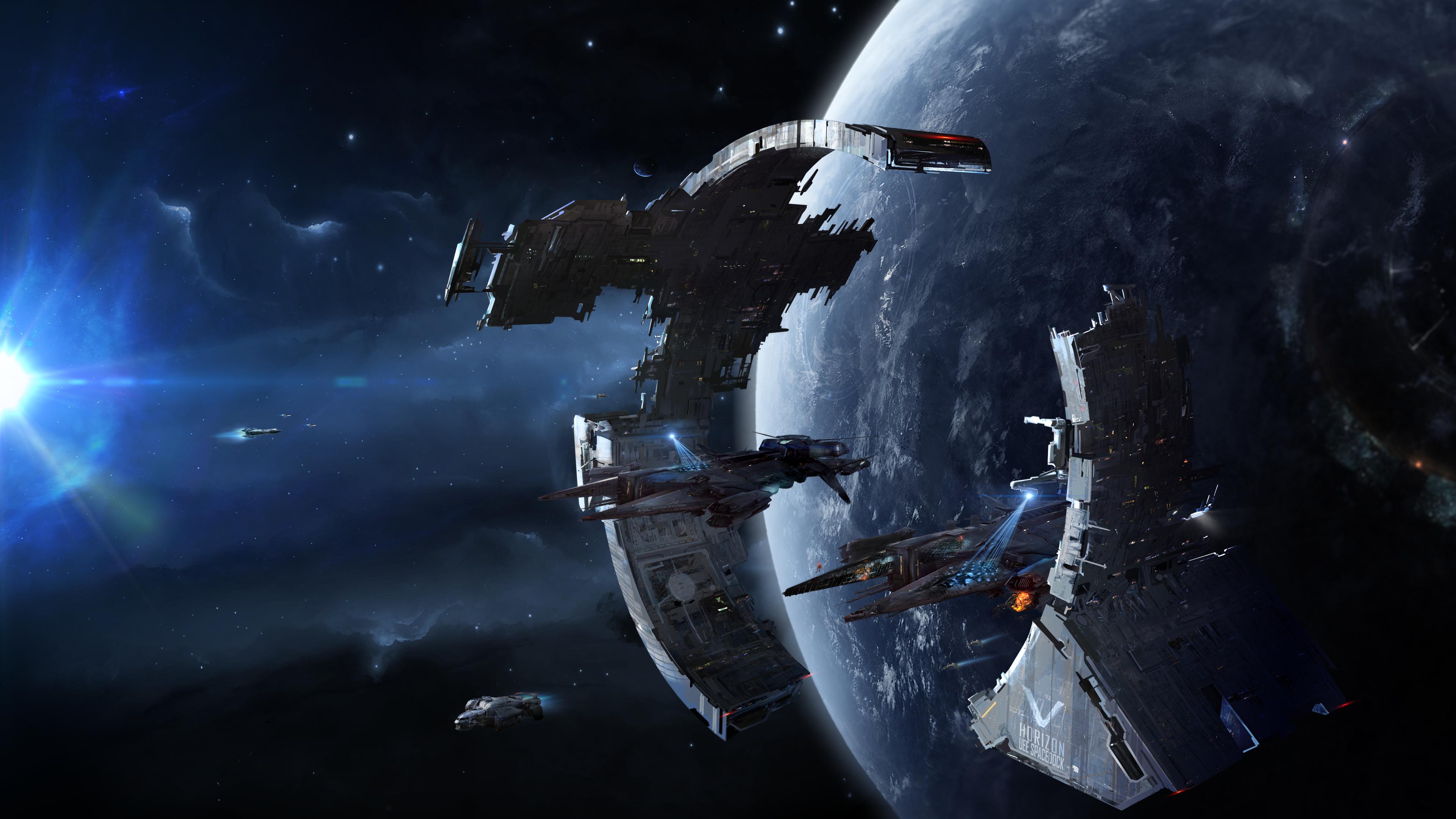 Citizen spotlight uee spacedock 4k wallpapers - Spaceship wallpaper 4k ...