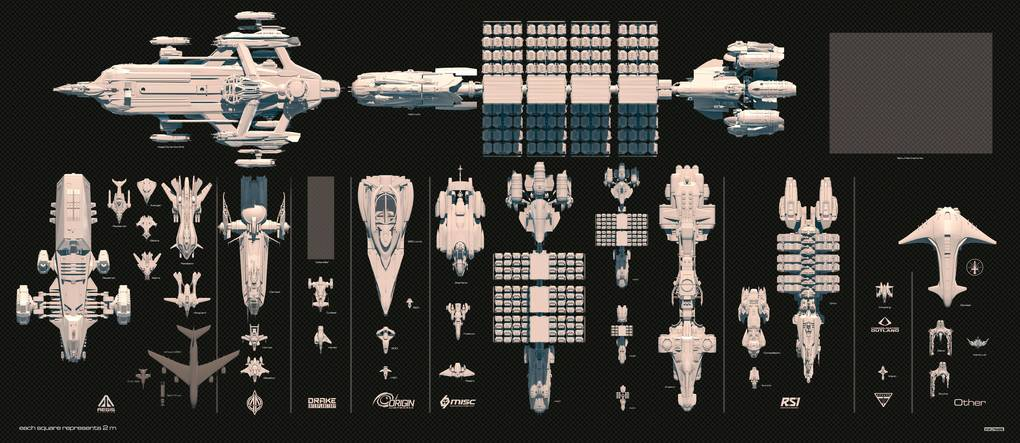 star citizen ship size comparison chart - photo #13