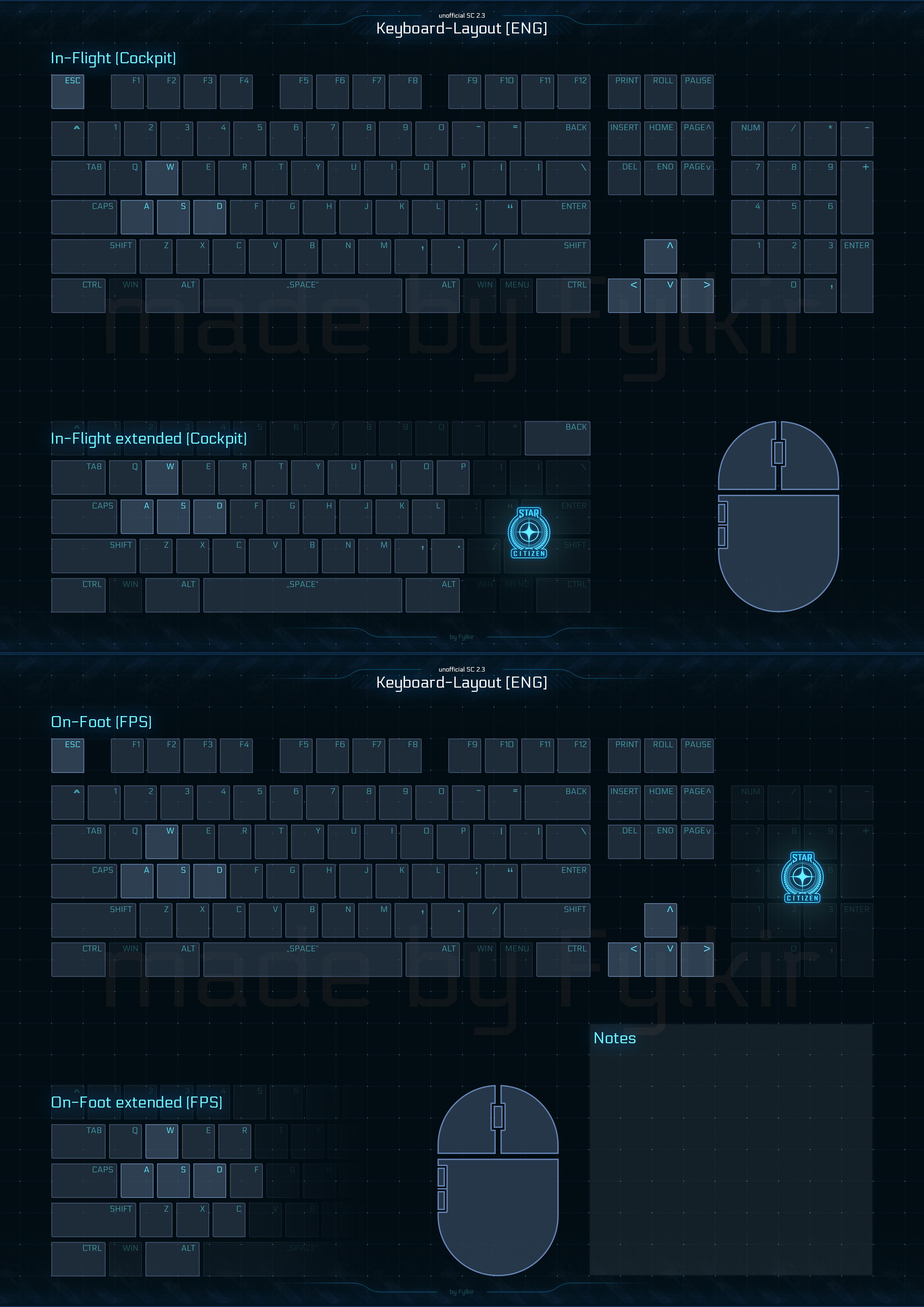 Citizen Spotlight Redesigned Keyboard Control Layout V2